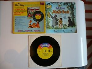 "Walt Disney The Jungle Book 7"" Vinyl US 1977 Story, Songs & 24 Page Book Single"