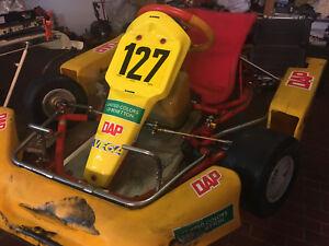 DAB Kart Rennkart & ICA 100 Ital-Sistem Motor Go Kart Rennsport Go-Kart Rennen