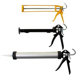 Caulking Gun Silicone Sealant Skeleton Trigger Rotating Barrel Cartridge Sausage