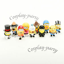 Despicable Me 2 Minions Movie Character Figures Cute Toys Doll Cup Cake 10 pcs