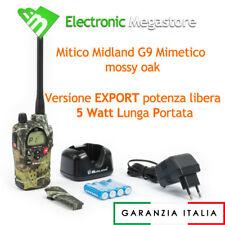 RICETRASMITTENTE MIDLAND G9 LPD PMR 466 MIMETICA WALKIE TALKIE BIBANDA SOFTAIR 5