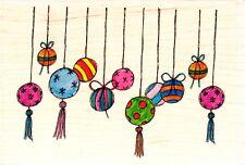 Pantalla De Adorno De Navidad-sello de goma montado madera-Lindsay Mason Designs