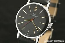 Gold Plated slim Luxury Luch De Luxe OLD stock Extremely RARE Russian USSR watch