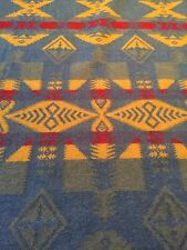 "RARE RALPH LAUREN LAKE ""RETREAT"" SOUTHWEST WOOL TRADING BLANKET FABRIC NWOT"