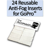 24 Pack NoFog Anti-Fog Inserts compatible with GoPro® cameras