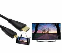1.4 Male to Male HDMI to Micro HDMI Cable 1080p 1440p for HDTV PS3 XBOX 3D LCD