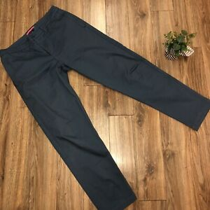 Rapha Mens Cycling Commute Chino Trousers Pants - 32x32  Relaxed Fit Blue