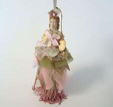 Katherine's Collection Hydrangea Blush Brunette Tassel Doll in Pink Tassels