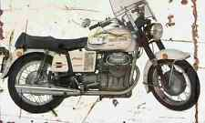 MotoGuzzi V7 1970 Aged Vintage SIGN A3 LARGE Retro