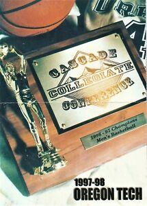 1997-98 OREGON TECH men's basketball pocket schedule - VG/EX Danny Miles