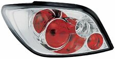 Peugeot 307 2001-2007 Clear Lens Chrome Lexus Rear Back Tail Lamp Lights - Pair