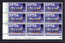 GREAT BRITAIN 1967 1/6d EFTA WITH BREAK IN FRAME VARIETY SPEC. W112j MNH.