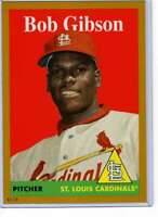 Bob Gibson 2019 Topps Archives 5x7 Gold #97 /10 Cardinals