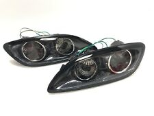 FRONT BUMPER TURN SIGNAL LIGHT CARBON INNER ASSY FOR 93-02 MAZDA RX7 FD 99 SPEC