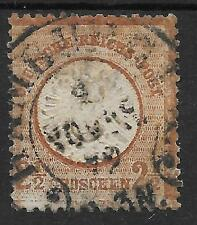 GERMANY SG 21a 2 1/2gr DEEP BROWN;AVERAGE USED SLIGHTLY RUBBED;GOOD PERFS.