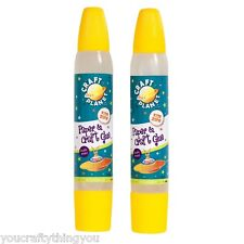 2 x Craft Planet Childrens Paper & Craft Glue Pens (Double Ended) CPT6531201-B68