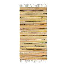 Relaxdays Tapis À franges Tissé Main Coloré Jaune Style Indien 70 x 140 cm Co...