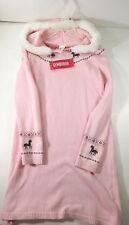 New Girls Gymboree Medium Size 8 Pink Winter Sweater Dress With Fur Hood