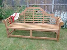 "1.98cm/6ft6"" TOP QUALITY TEAK HARDWOOD LUTYENS MEMORIAL GARDEN BENCH LOUNGER"