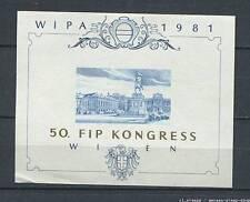 Austria : WIPA 1981 - blue print memorial sheet - mint no gum