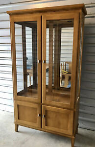 """ETHAN ALLEN Dining Room China Cabinet """"Elements"""" Mid Century Modern Collection"""