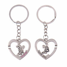 2X Mickey & Minnie Mouse Couple Heart Keyring Keychain Key Ring Chain Lover Gift