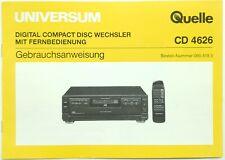 Original Bedienungsanleitung für Quelle CD 4626 BDA / Manual