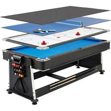 Black multi game Billard table with hockey, table tennis and dining table