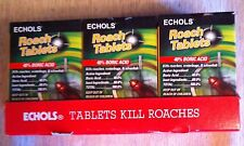 Echols Roach Tablets w/ Boric Acid(12) KILL ROACHES WATERBUGS ANTS NEW 2oz