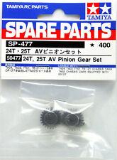 Tamiya 50477 24T & 25T AV Pinion Gear Part Set For TA03/TA04/TB01/TT01/CR01/FF01