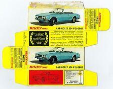 Boîte copie repro Dinky Toys 1423 cabriolet 504 peugeot ( reproduction box vide