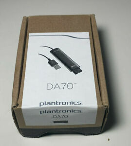 Plantronics DA70 USB to QD Headset Adapter Voice Over IP # 201851-01 NEW IN BOX