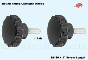 TEHAUX 10pcs Knurled Clamping Nuts Knob Handle Plum Grip Screw On Type Clamping Knob Thru Knob