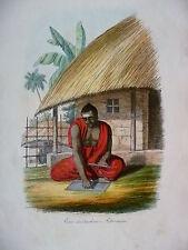 Orig. kol. Litho 1857 Volkskunde Ein indischer Astronom Indien