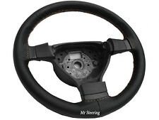 FITS DAIHATSU MATERIA BLACK PERFORATED LEATHER STEERING WHEEL COVER BEIGE STITCH