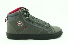 Mens Womens Lee Cooper Steel Toe SB Safety Baseball BOOTS High Top Sizes 3 to 12 Grey UK 8