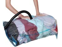 6 VACUUM COMPRESSED STORAGE SAVING SPACE BAGS 80 X 100 CM Clothing, Duvets uk