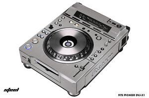 Skin Decal Wrap for PIONEER DVJX1 DJ Mixer CD Pro Audio DVJ X1 Parts STEEL
