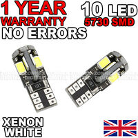 Transit Mk7 06-12 luz Bus CAN leds Lateral 5 SMD 501 T10 W5W Bombillas - Blanco