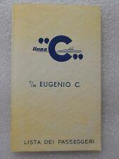 T/N Eugenio C. Costa Line Passagierliste  1974