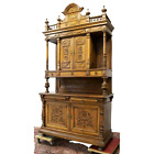 Antique Sideboard, Monumental French Walnut Carved Woos, 1800s, Stunning!