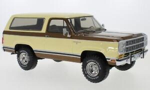 1979 Dodge RAM Ladegerät Beige/Brown Metallic Von Bos Le 300 1/18 Maßstab Rare