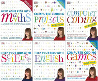Help Your Kids with Maths Science Computer Coding English 6 books collection NEW