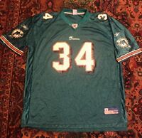 Ricky Williams Miami Dolphins Reebok On Field Nfl Jersey Sz 2xl EUC