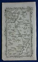 Rare antique road map NOTTINGHAMSHIRE, CARLTON ON TRENT, TUXFORD, Armstrong 1776