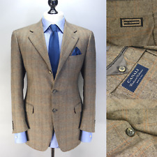 CANALI Exclusive Collection $2195 Beige Check 100% CASHMERE Blazer 50IT 40US