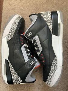 Jordan III Black Cement Size 13