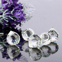 20MM Hang Chandelier Clear Glass Crystal Ball Lamp Prism Pendant Fengshui Decor