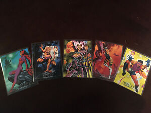 1992 MARVEL MASTERPIECES SERIES I LOST CARDS 5 CHASE INSERT COMPLETE SET!