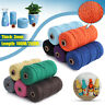 3MM 100M DIY Long Macrame Colorful Cotton Twisted Cord Rope Hand Crafts String